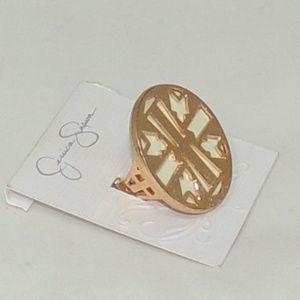 Jessica Simpson gold stretch women ring